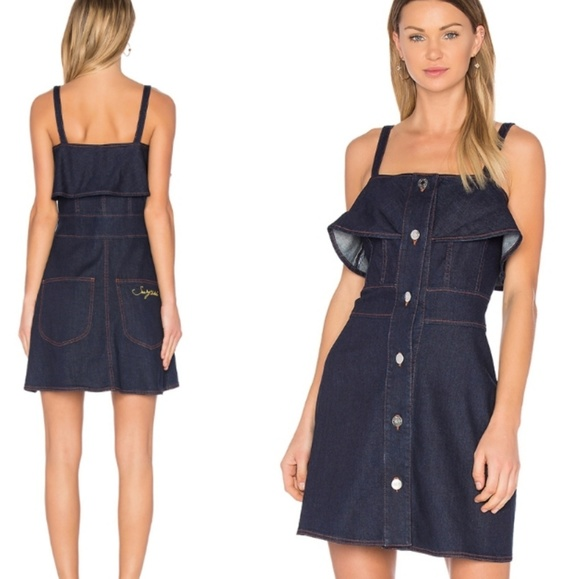 See By Chloe Dresses & Skirts - See by Chloe Ruffle Button Down Denim Dress